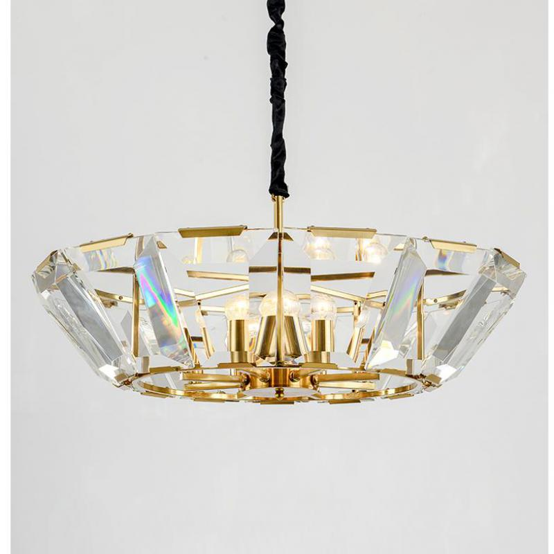 Art gallery gold lustres de cristal pendant Chandelier crystal Lamp Italy Designed Villa Duplex Floor LED Suspension Luminaire art zerkalo зеркало kingsley gold