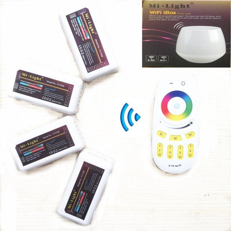 Svjetlo WiFi Led kontroler koncentrator 2.4G 4-Zone RGBW kontroler - LED Rasvjeta