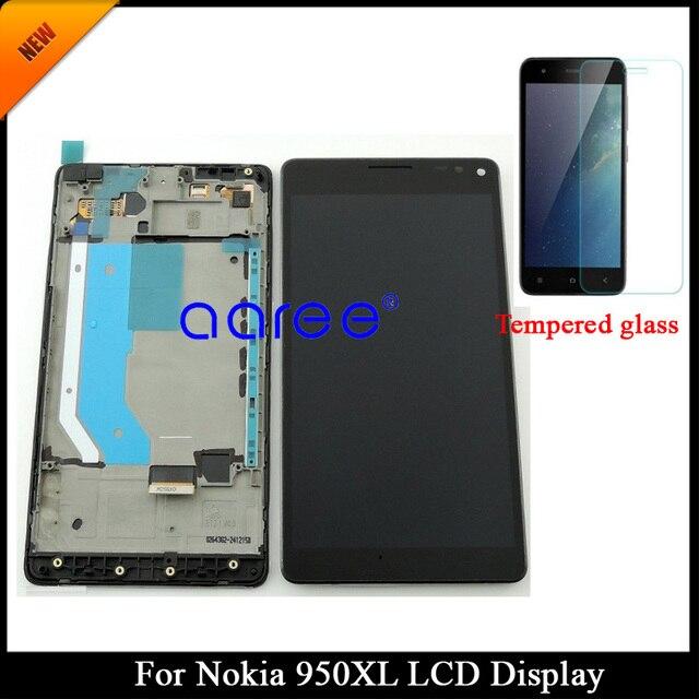 100% נבדק כיתה AAA LCD תצוגה עבור Microsoft נוקיה Lumia 950XL עבור Nokia 950XL LCD מסך מגע Digitizer עצרת עם מסגרת