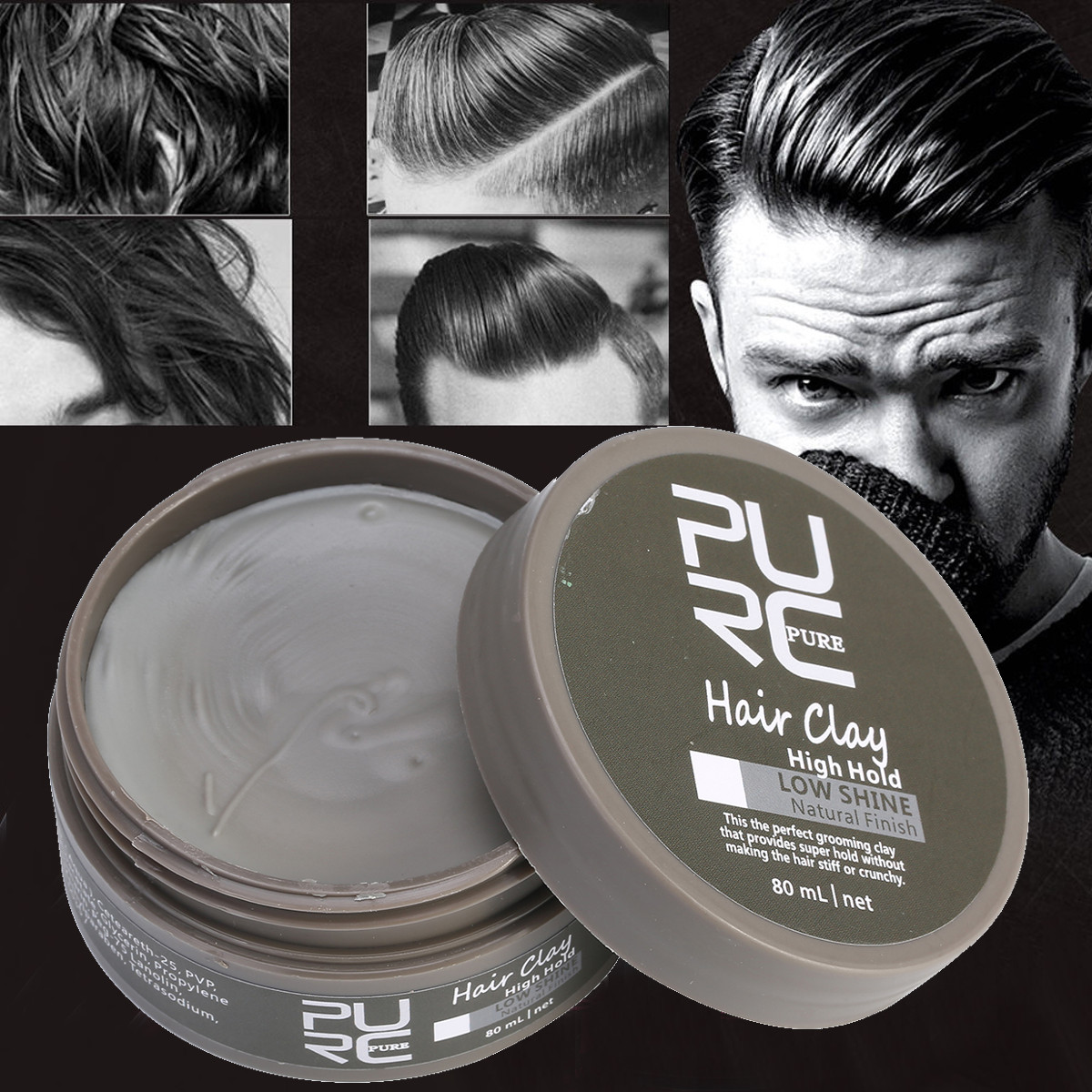 Detail Feedback Questions About 80ml Hair Styling Wax Mens Cement
