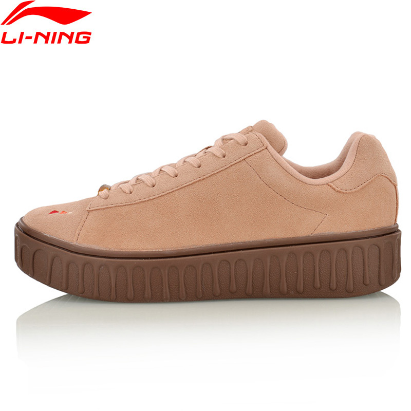Li Ning Women Lifestyle Shoes Stylish Sneakers Breathable Comfort Classic LiNing Sport Shoes AGLM106 YXB100