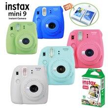 New 5 Colors Fujifilm Instax Mini 9 Instant Photo Camera + 10 pcs Fuji Instax Mini 8 White Film + Free Wall Album& Close up Lens