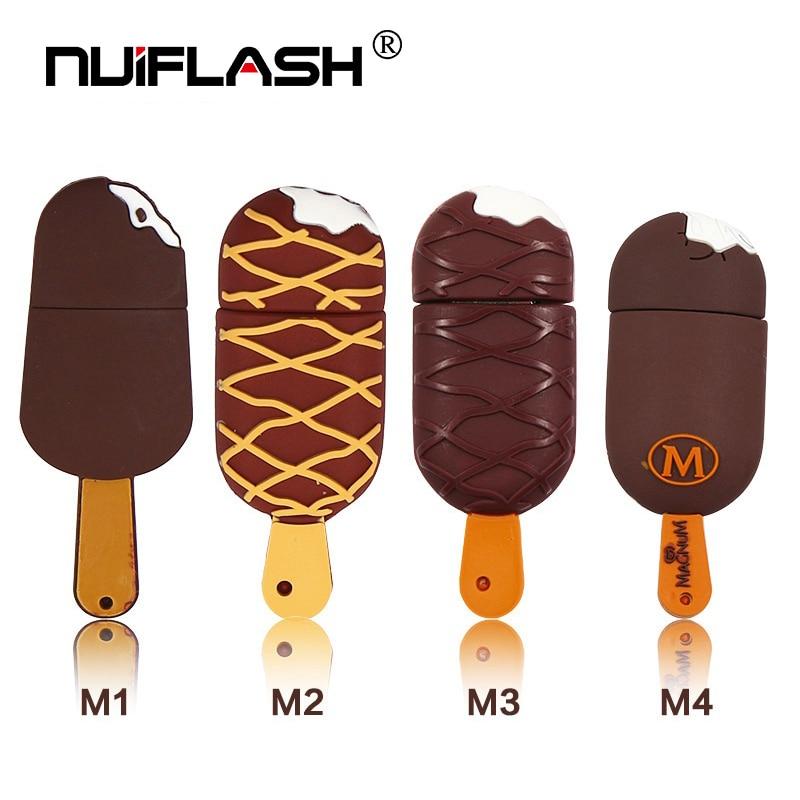 Ice Cream Lovely Usb Flash Drive 128gb 64gb Pendrive 32gb 16gb Memory Stick High Quality Pen Drive 8gb 4gb U Disk Free Shipping