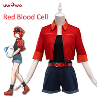 UWOWO Cells At Work / Hataraku Saibou Anime Cosplay Costume Red Blood Cell Hataraku Saibou Women Anime Cosplay Costume Halloween