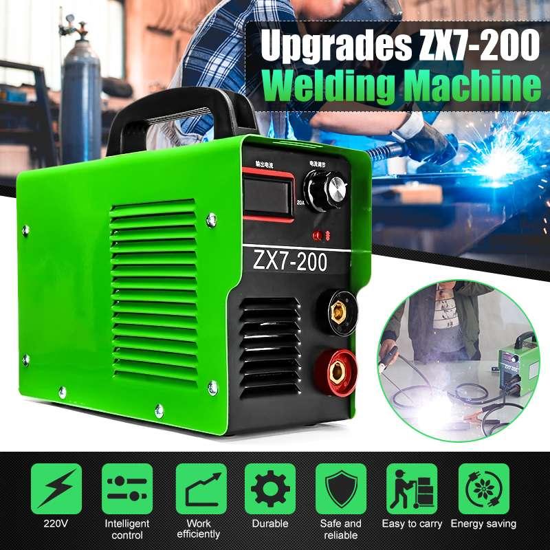 Portable ZX7-200 220V 20A-200A MINI IGBT ARC Welding Machine Semi-Automatic Inverter LCD Soldering Tool