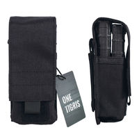 OneTigris 1000D Nylon Tactical MOLLE Single M4 Mag Pouch Holds 2 Pistol Magazine Pouch Bag Utility