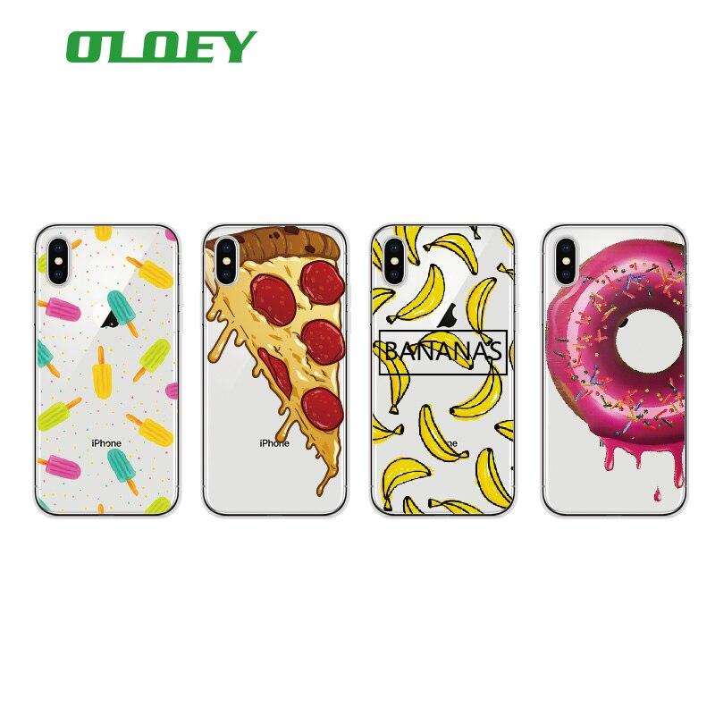 Oloey модные милые пиццы сыр пончики мягкий чехол для телефона Coque Fundas для iPhone 6 6 s 6 Plus 7 7 плюс 5S 8 8 Plus x samsung galaxy