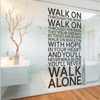 % Yalnız yürümek asla İlham tırnak duvar çıkartmaları odası dekorasyon ev çıkartmaları vinil sanat liverpool takımı şarkı sözleri