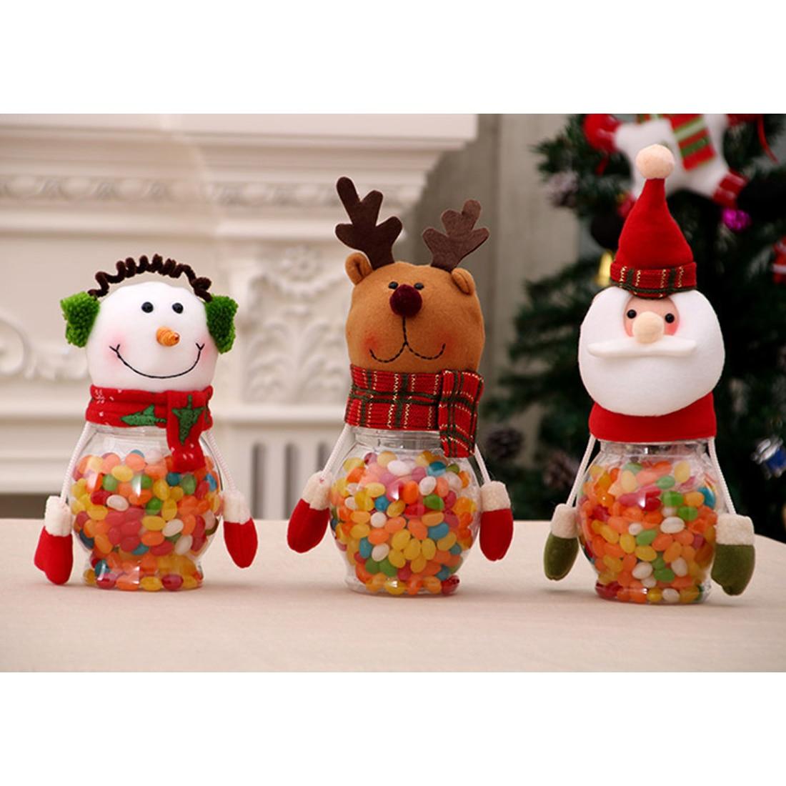Bereidwillig Top Koop Leuke Kerstman Elanden Sneeuwpop Snoep Potten Container Kerst Kids Geschenken Vakantie Party Tafel Decor Zowel De Kwaliteit Van Vasthoudendheid Als Hardheid Hebben