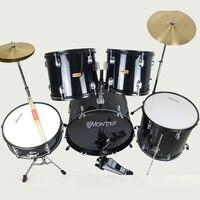 2018 джаз барабан стойки Chromophous тарелки голени изысканный Комплект 5 барабан Cd