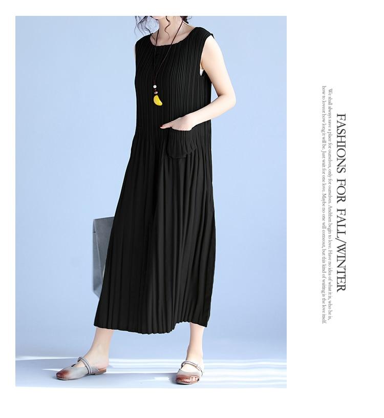 BelineRosa Women's Summer Dresses 17 Pure Color Casual Women Draped Dress Sleeveless Plus Size Dresses for Women QY00001 16
