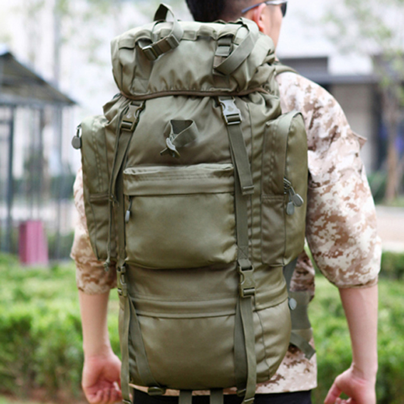 65L Hiking Camping Bag Outdoor Travel Sport Military Tactical Rucksack Mochilas Militares Super Large Capacity Military Backpack 70l large capacity bag men military tactical backpack outdoor sport camping bags men s hiking rucksack travel backpack