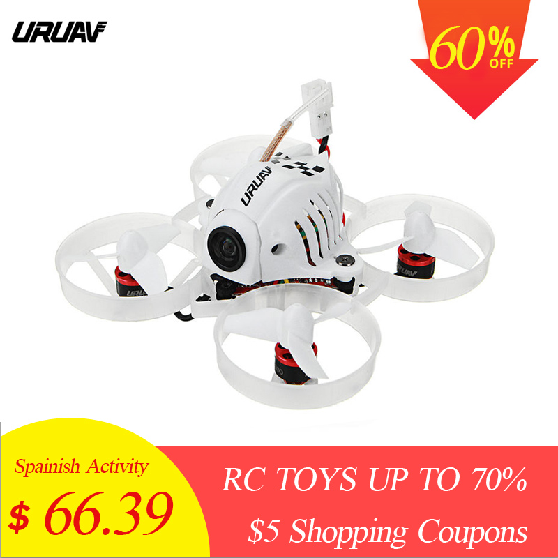 URUAV UR65 65mm FPV Racing Drone BNF Crazybee F3 Vol Contrôleur OSD 5A Blheli_S ESC 5.8g 25 mw VTX RC Quadcopter VS Minuscule 6x 7x