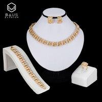BAUS Exquisiten indischen schmuck Braut Geschenk Nigerianischen Schmuck-Set Großhandel Afrikanische Perlen Schmuck-Set Dubai Gold Schmuck-set Design