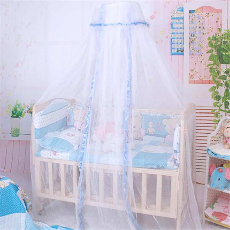 Round Dome Baby Infant Mosquito Net Toddler Bed Crib Canopy Netting White BabeX30621