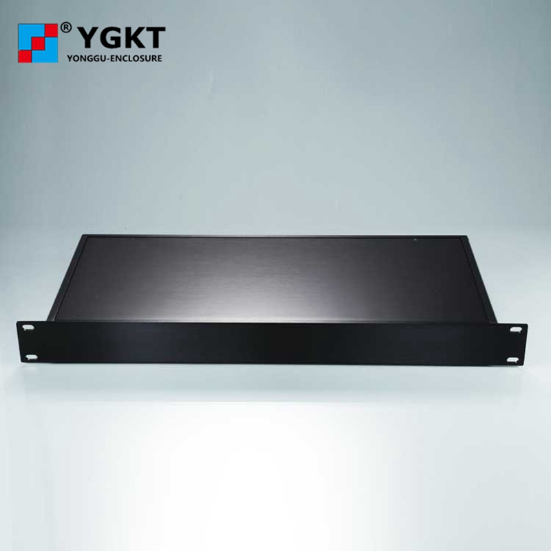 YGH-002 482*44.5-250 mm (wxhxd) 1 U full aluminum flat side panel rack mount chassis finish with brush 482 133 4 295 250mm aluminum communication video aluminum frame chassis housing case with handle ygh 002 3u