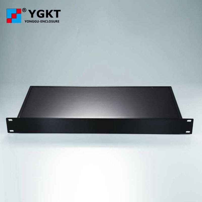 YGH-002 482*44.5-250mm (lxhxp) 1 U complet en aluminium plat côté panneau châssis de montage en rack finition avec brosse