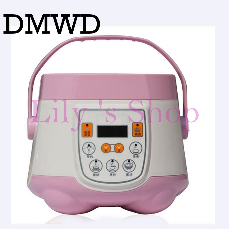Multifunction rice cooker 1.8L smart mini electric rice maker steamer Reservation timing 110V aluminum alloy liner cook tool US mini electric pressure cooker intelligent timing pressure cooker reservation rice cooker travel stew pot 2l 110v 220v eu us plug