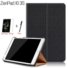 Ultra-thin Stand Smart PU Leather Cover for Asus ZenPad 10 3S Z500M 9.7″ Tablet Funda Case+Free Screen Protector+Stylus Pen
