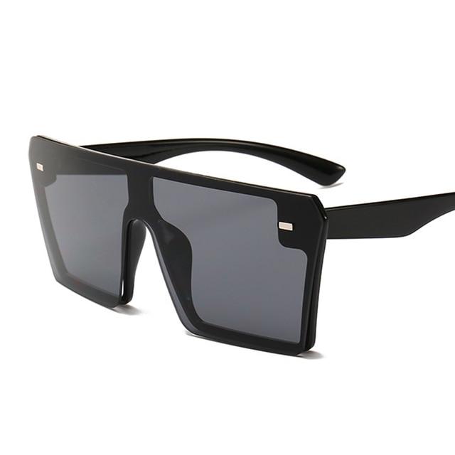 Oversized Square Sunglasses Women 2019 Luxury Brand Fashion Flat Top Red Black Clear Lens One Piece Men Gafas Shade Mirror UV400 8