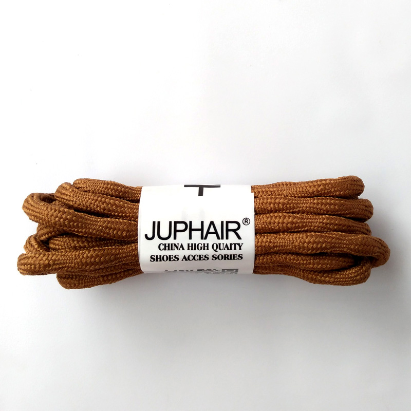 N 1-50 Pairs Linht Brown Sports Unisex Different Lengths Polyester Outdoor Hiking Shoe Lace Round Wear-resistant Shoelaces Rope