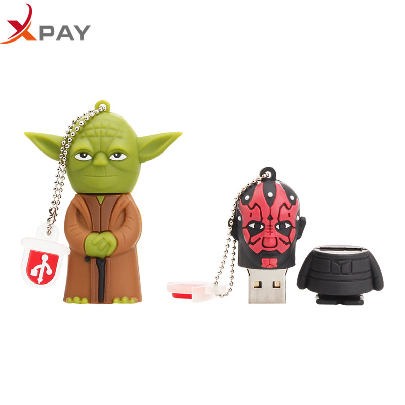 XPAY Usb flash drive 2.0 cartoon Silicone 32GB 128GB pendrive 4GB 8GB 16GB 64GB all styles darth vader Pen drive free shipping-in USB Flash Drives from Computer & Office