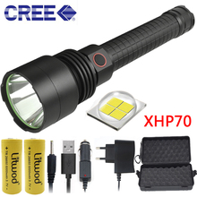 Litwod Z201512 high powerful Tactical defense LED flashlight torch light CREE XHP70 chip power by 18650 or 26650 Battery Lantern