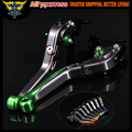 Green+Titanium 8 Colors CNC Motorcycle Brake Clutch Levers For Kawasaki ZX10R 2006 2007 2008 2009 2010 2011 2012 2013 2014 2015