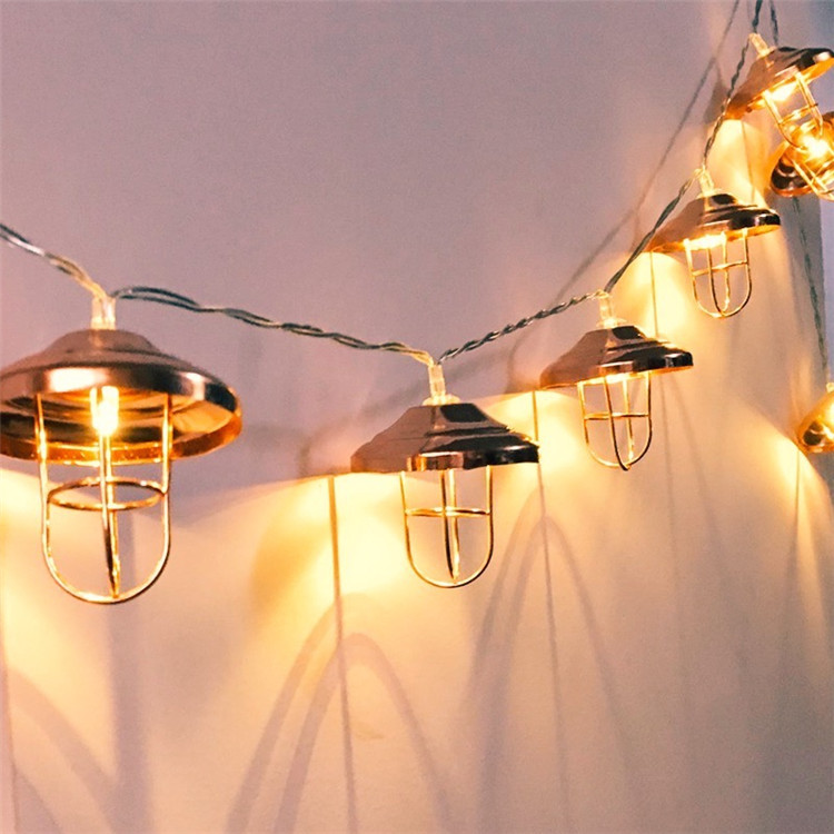 50Led Fairy Rose Gold LampShade Bulb Battery Operated String Lights 5m LED Decoration For Christmas Garland New Year Gerlyanda