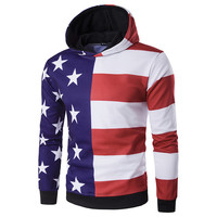 New Arrival Men S Hoodie Jacket American Flag Striped Star 3D Print Men S Hoodie