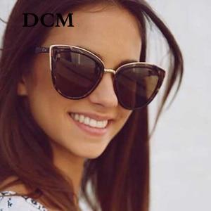 DCM Cateye النظارات الشمسية المرأة خمر التدرج نظارات الرجعية القط العين نظارات شمسية الإناث نظارات UV400