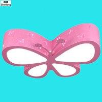 Красочные бабочки потолок огни прекрасный LED мультфильм plafon лампы для детских Спальня детский сад для детской комнаты TECHO мечта