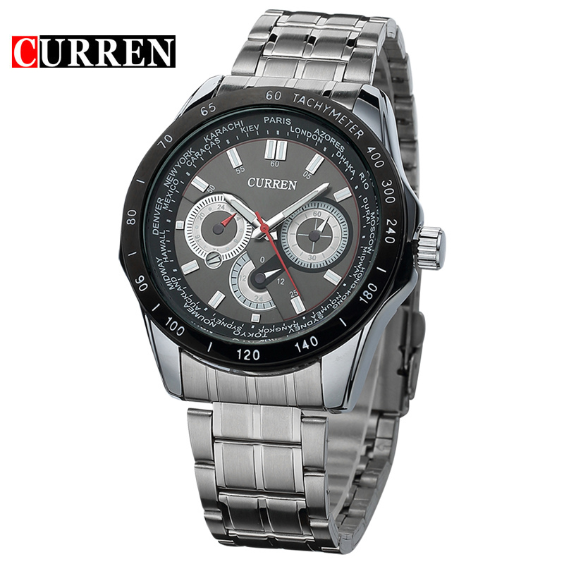 Curren relogio masculino Luxury Brand Stainless Steel Strap Analog Display Men's Quartz Watch Casual Watch Men Wristwatch 8150 original curren luxury brand stainless steel strap analog date men s quartz watch casual watch men wristwatch relogio masculino