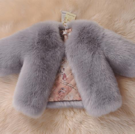 autumn winter jacket for girls menina manteau hiver 2019 adolescente filles faux fox fur kid long sleeve thick warm outwear S811