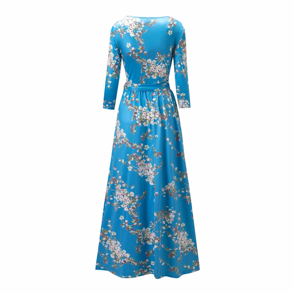 US $17 11 11% OFF|Autumn New Muslim Floral Print Abaya in Dubai Long  Seleeve Islamic Clothing-in Islamic Clothing from Novelty & Special Use on