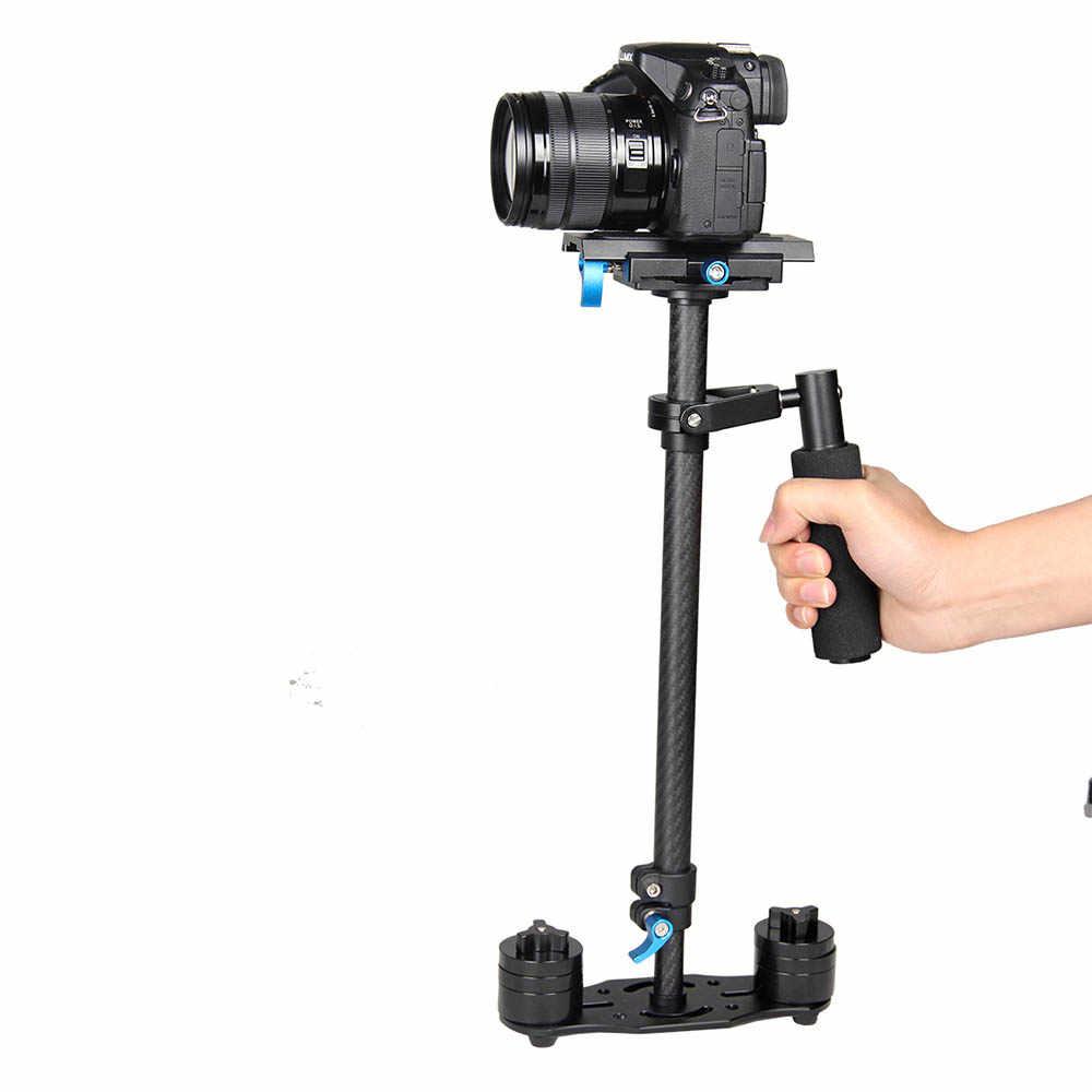 ييلانجو S60T المهنية المحمولة ألياف الكربون حامل تثبيت الكاميرا الصغيرة DSLR مسجّل وكاميرا فيديو ثابتة أفضل من S60