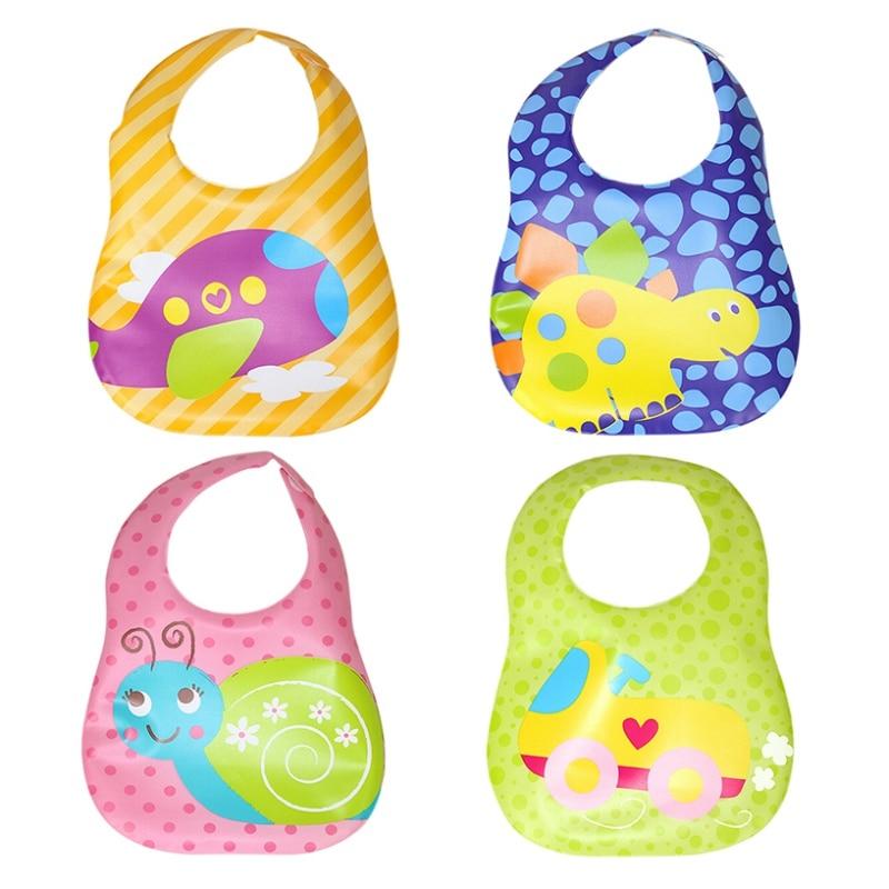 High Quality New Design Waterproof Unisex Baby Bibs Silicone Feeding Baby Saliva Towel Newborn Cartoon Lovely Animals Bibs Burp