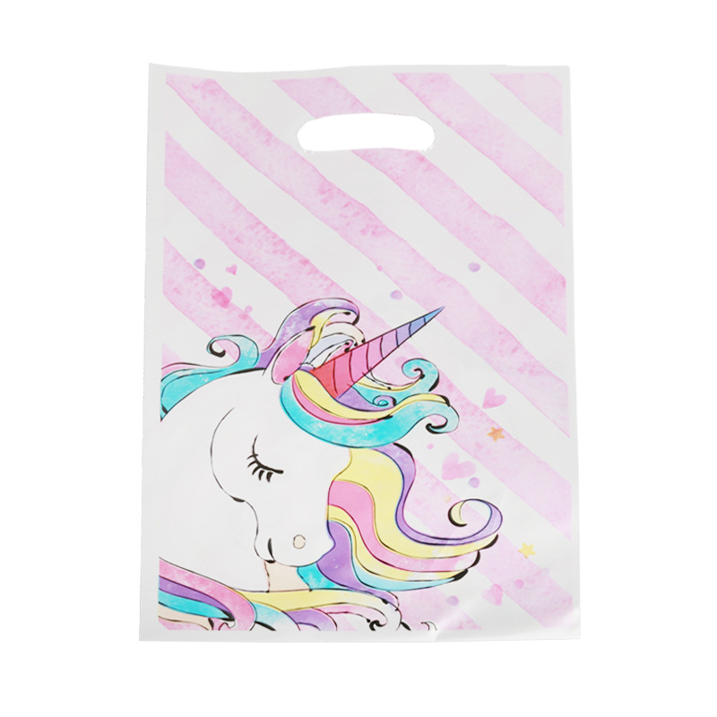 10pcs//Pack Cartoon Unicorn Gift Bag Candy Loot Bag Festival Event Party Supplies
