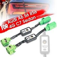 2 X Динамический указатель поворота светодиодный задний фонарь модуль кабель жгут проводов для Audi A6 S6 RS6 4G C7 Sedan