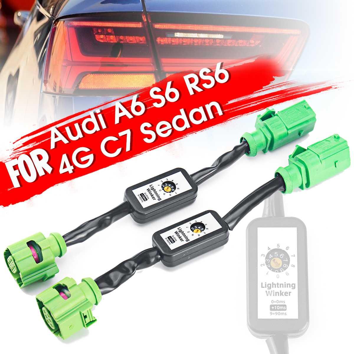 Nouveau 2 X clignotant dynamique indicateur LED Module de feu arrière faisceau de câbles pour Audi A6 S6 RS6 4G C7 berline