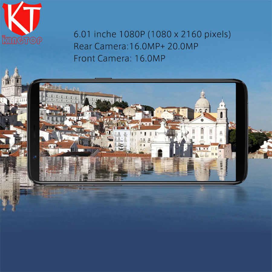"""グローバル ROM OnePlus 5 T 5 T 6/8 グラム RAM 64/128 ROM 携帯電話キンギョソウ 835 6.01"""" 20MP + 16MP リアカメラ 4 の 3g 携帯電話"""