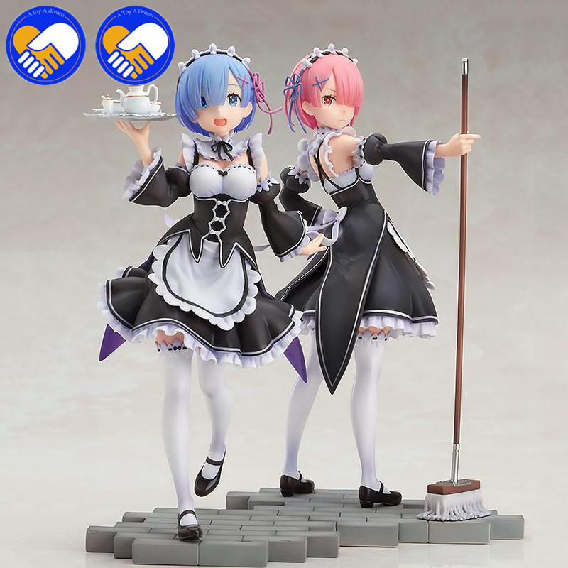 In Stock! Re:Life in a Different world from Zero Rem Ram 1/6 Scale Painted PVC figure Servant Maid Girl Ver. Rem Toys Brinquedos
