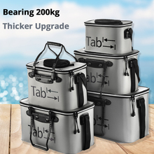 EVA Portable Folding Bucket Filled Fish Wear Bucket Gear Fishing Foldable Bag Camping Hiking Bucket With Handle Fishing Bags#C0