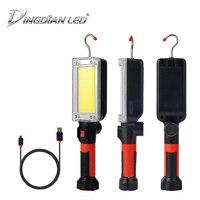 C0b multifuncional inspeção do carro conduziu a lâmpada de trabalho portátil fácil levar usb recarregável luz acampamento emergência dc5v 20 w 700lm