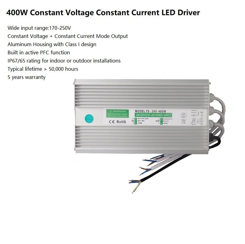 Outdoor 400Watt LED Power Supply / AC175-250V Input / Intercross: HVG-320 MeanWell / IP67 LED Driver Adapter Transformer atx 300gu 400 watt 400w replace power supply replacement