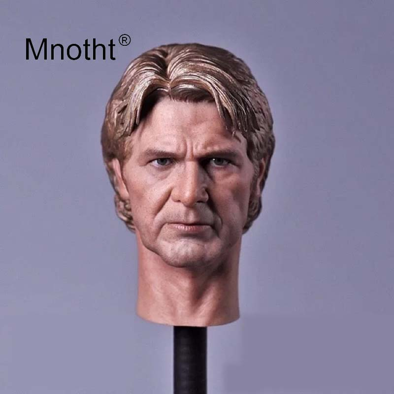 Old Age Edition Han Solo Head Sculpt 1:6 Scale Male Soldier Head Carving Science Fiction Figure Model for 12inch Toy Mnotht