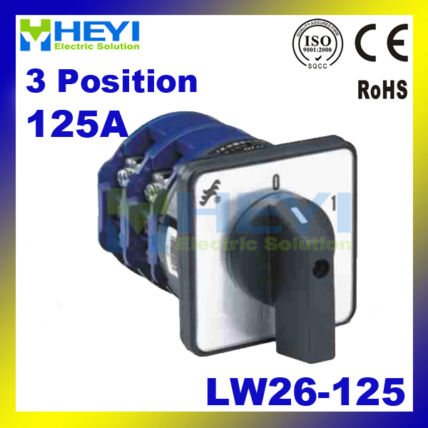 Universal Switch 125A 3Postions LW26-125 Changeover Control Rotary Cam Combination Switch ardo flsn 125 lw