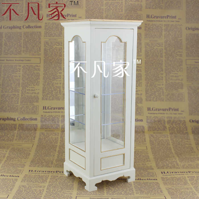 BJD 1/6 scale miniature furniture well made white display cabinet