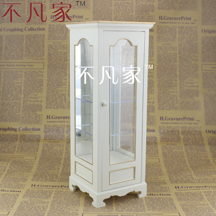 BJD 1/6 scale miniature furniture well made white display cabinet for honey well 5180 5180sr decoded miniature image scan engines