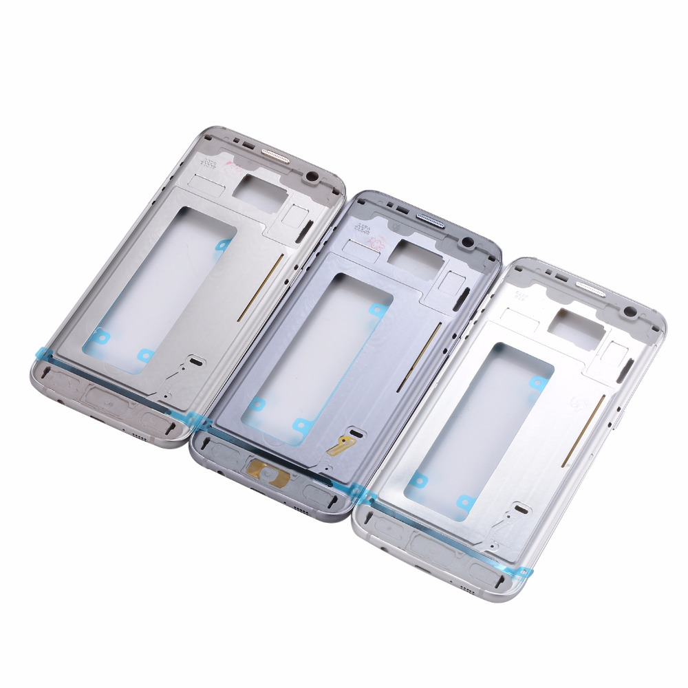 For Samsung Galaxy S7 G930 G930F Housing Middle Bezel Frame S7 Edge G935 G935F Mid Bezel Metal Frame Housing With Side Key